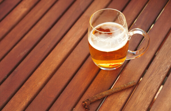 Lager and cigars