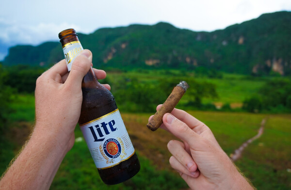 Light Beer and cigars